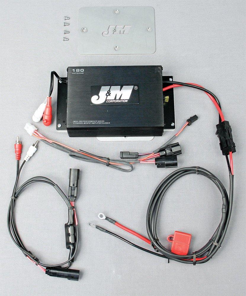 J&M Audio 180 Watt 2 Channel Performance Amp Kit for 2015 and Newer Harley Road Glide models - JMAA-1800HR15
