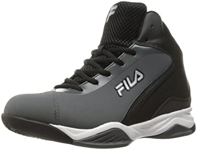 a0162a1eeec54 Fila Men's Contingent Basketball Shoe, Castlerock/Black/Metallic Silver, ...