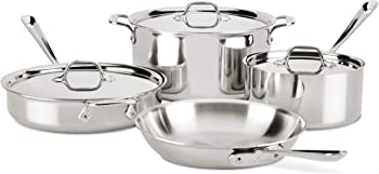 All-Clad D3 7-Piece Stainless Steel Induction Compatible Cookware Set