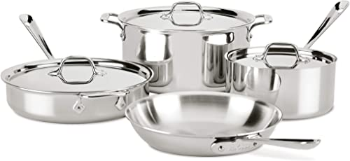 All-Clad-8400001958-4007AZ-D3-Stainless-Steel-Dishwasher-Safe-Induction-Compatible-Cookware-Set