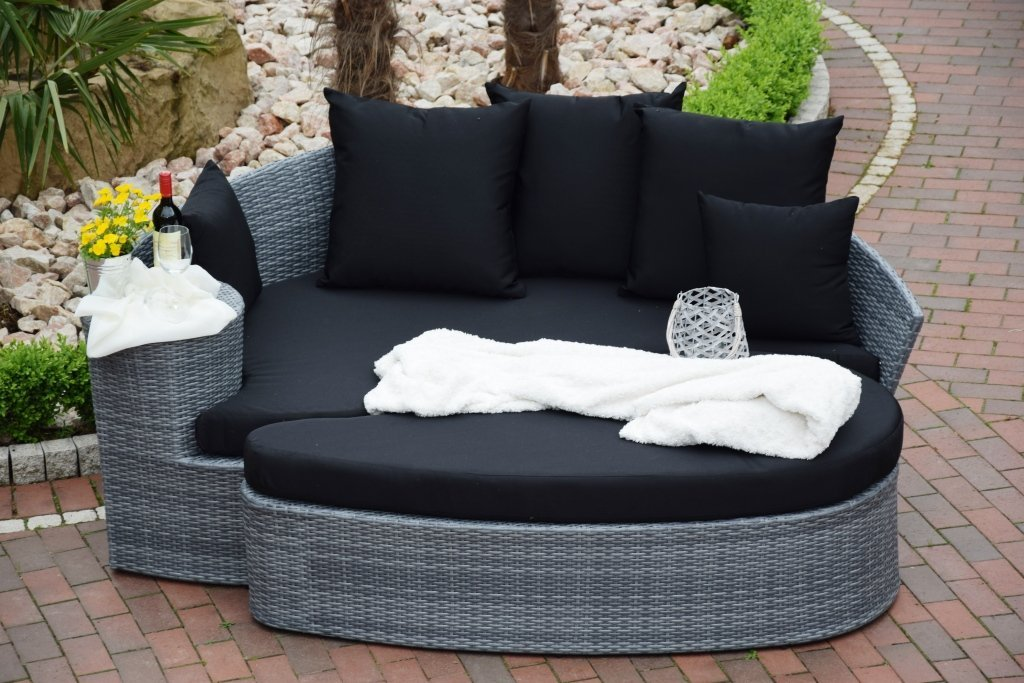 sonneninsel polyrattan rattan wt 6002 lounge wellness grau. Black Bedroom Furniture Sets. Home Design Ideas