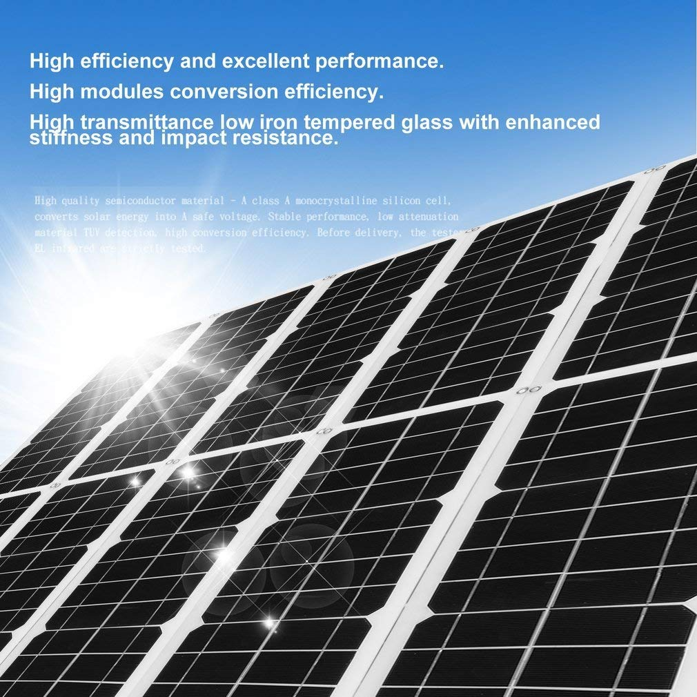 hehi Lark 100 W Flexible Módulo Solar Panel Solar Panel Solar monokristallin 100 W IDEAL PARA Jardín Autocaravana Caravan: Amazon.es: Bricolaje y ...