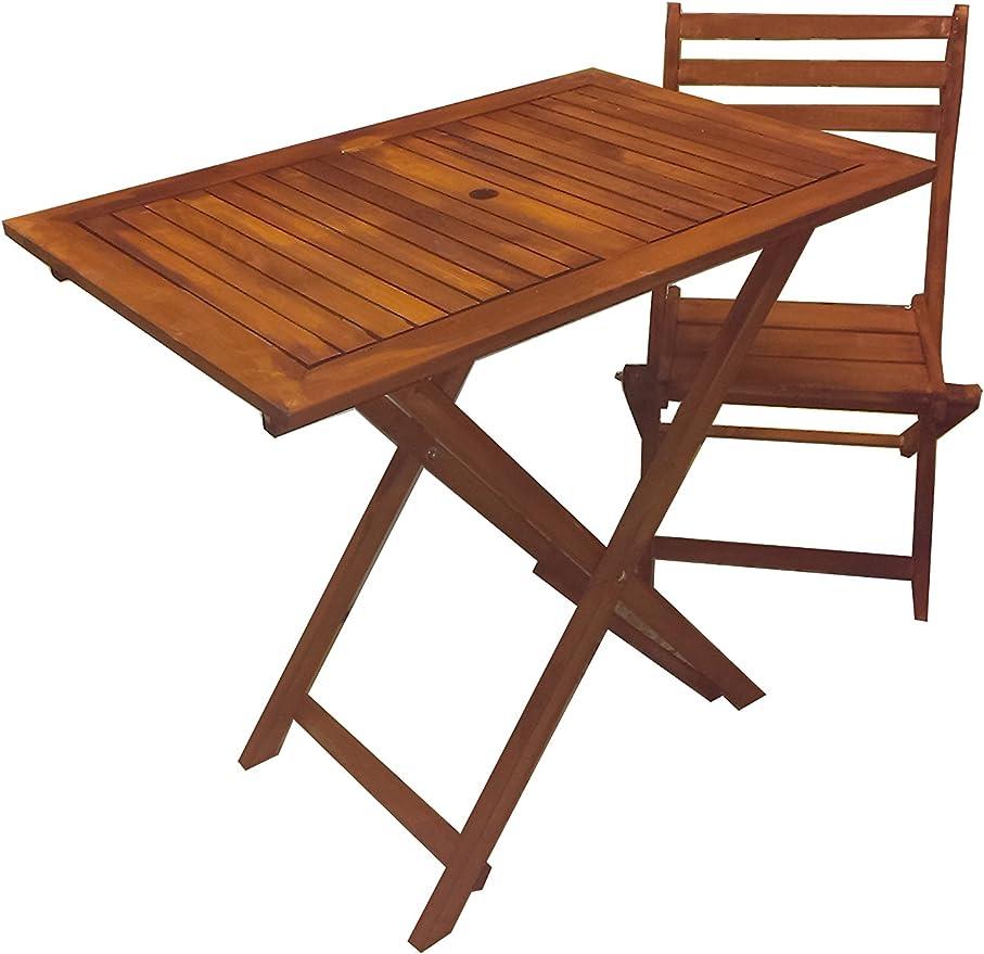 table et chaises pliantes en bois