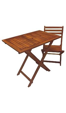 PJ Ensemble Table en Bois Pliante avec 4 chaises Pliantes ...