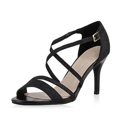 Damen Schuhe Pumps Nieten High Heels Stiletto Abendschuhe Sandaletten Rot 41 sm5IdCdoH