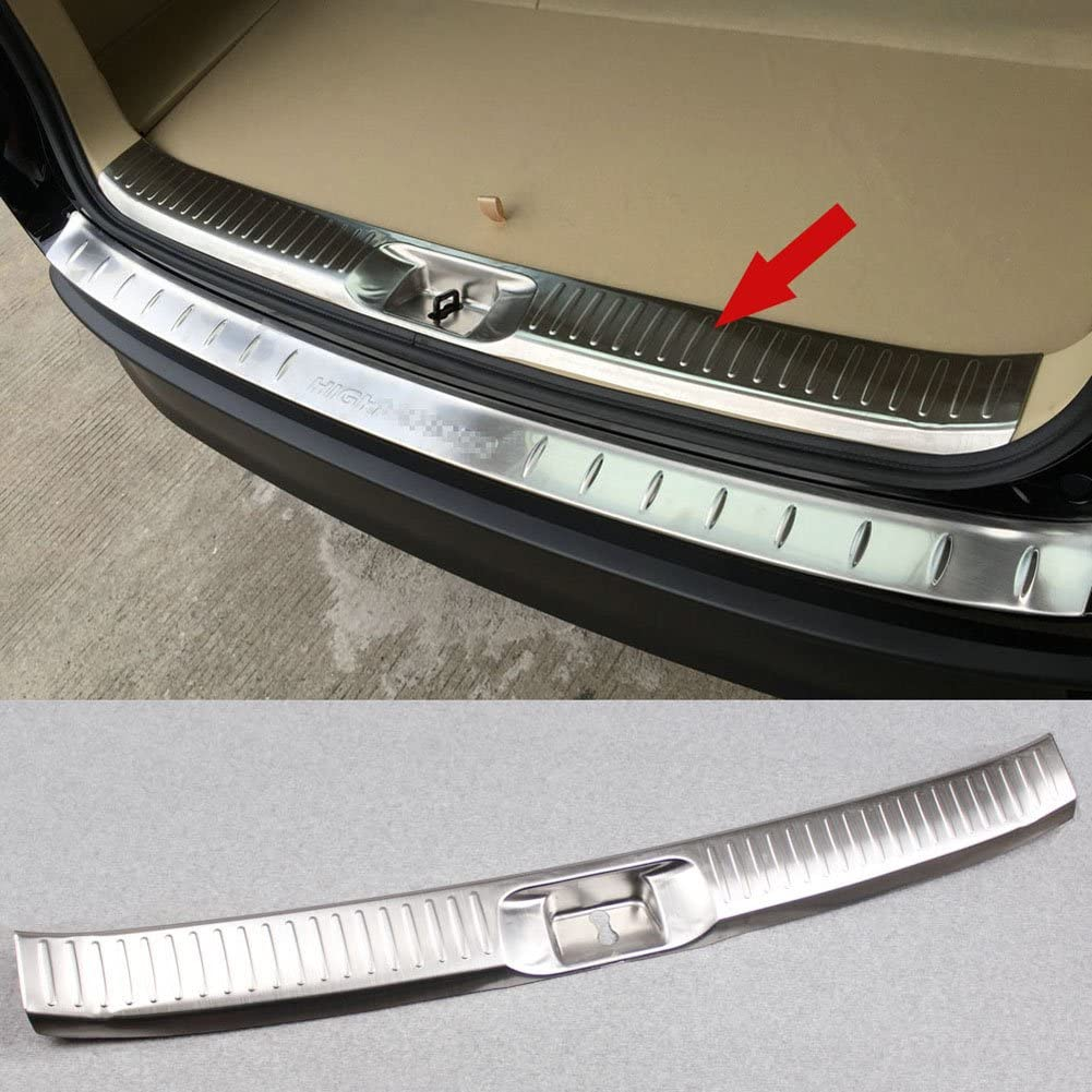 Silver Beautost Fit for Toyota New RAV4 2019 2020 Rear Outside Bumper Sill Plate Guard Cover Trim