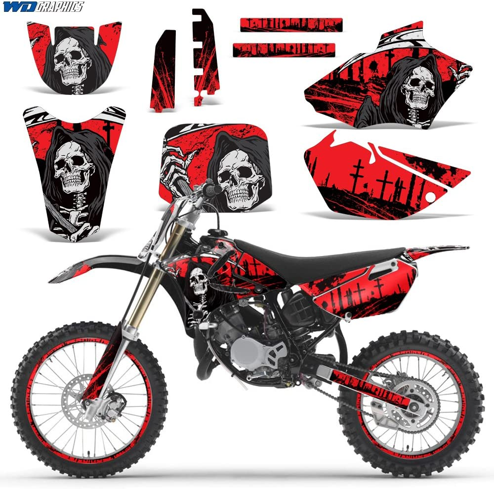Yamaha YZ 85 2002-2014 Decal Graphic kit for Dirt Bike MX Motocross Deco YZ85 REAPER RED