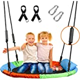 """X TOYZ 40"""" Flying Saucer Tree Swing Play Set Platform Tree Swing with Cushion Pillow, Adjustable Hanging Straps and Hand…"""