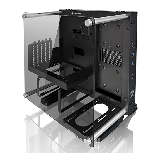 Thermaltake Core P1 TG Mini ITX Wall-Mount - Chasis de la Torre, Color Negro