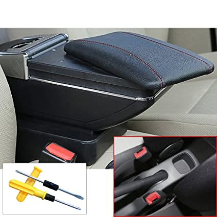MyGone for 2005-2018 Suzuki Swift Car Interior Accessories Center Console Armrest Box,Large