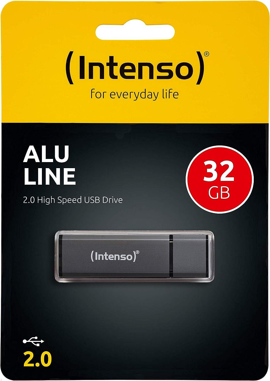 Intenso Alu Line 32 Gb Usb Stick Usb 2 0 Anthrazit Computer Zubehör