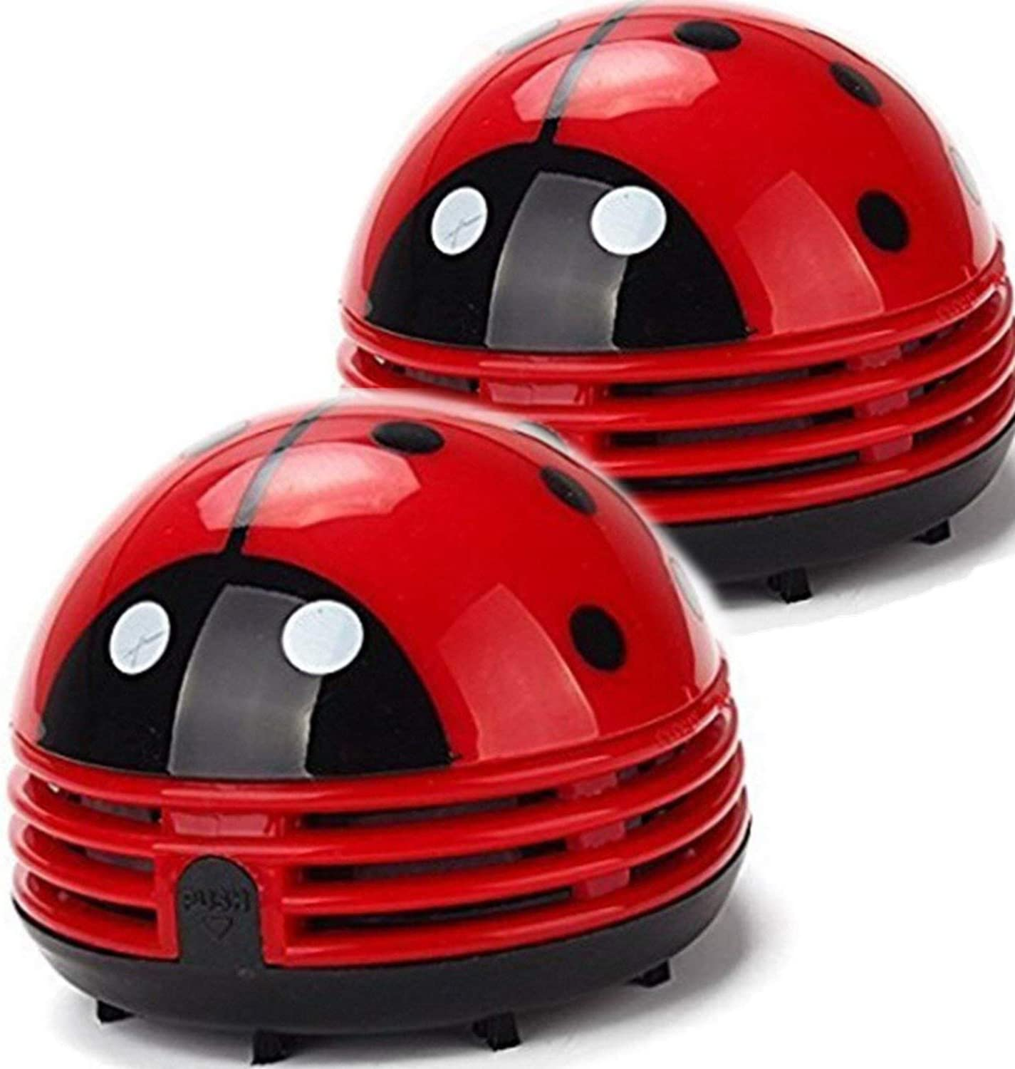 Ladybug Vacuum Cleaner - Mini Vacuum Cleaner Portable Corner Desk Vacuum Cleaner Mini Cute Vacuum Cleaner Dust Sweeper 2Pcs