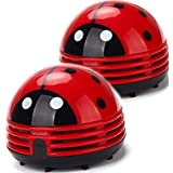 Ladybug Vacuum Cleaner - Mini Vacuum Cleaner Portable Corner Desk Vacuum Cleaner Mini Cute Vacuum Cleaner Dust Sweeper 2Pcs