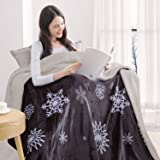 "Sherpa Throw Blanket Super Soft Velvet Plush Bedding Blanket Reversible Flannel Fleece Blanket for Bed and Couch Breathable Non Shedding Hypoallergenic Comfy Warm Fuzzy TV Blanket Dark Grey -Twin Size 60""x80"""