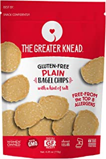 product image for Greater Knead Gluten Free Bagel Chips - Plain, Vegan, non-GMO, Free of Wheat, Nuts, Soy, Peanuts, Tree Nuts (1 Bags)