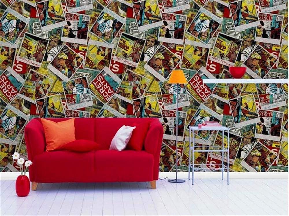 ZQHXW Retro Industrial Wind PVC Papel Pintado Inglés Letras Antiguo Póster Moderno Moda Papel Pintado Billar Habitación Internet Cafe Restaurante Fondo Papel de Pared 100.53 (M): Amazon.es: Hogar