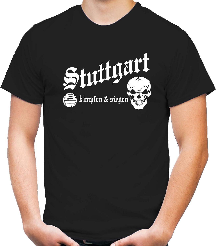 M1 M/änner Trikot Stuttgart k/ämpfen /& Siegen T-Shirt Hemd Fussball Schwaben Herren Fanshirt Ultras Hauptstadt