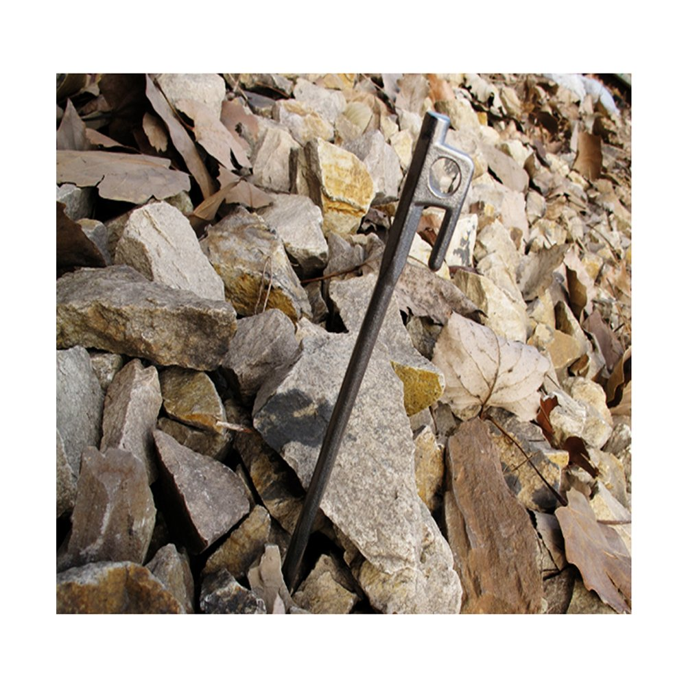 Heavy Duty Tent Tarp Peg Stakes Steel Tent Pegs Strengthen Thicken Tent Accessories for Hiking Camping Outdoor,Silver