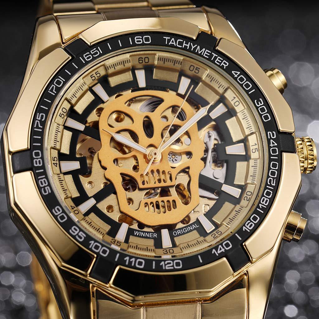 LUXISDE Quartz Watch Mens Digital Wrist Watch Clock Hollow Dial Luxury Design Business Fashion Mens Mechanical Watch by LUXISDE (Image #3)