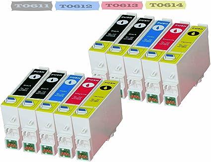 10 X Druckerpatrone Kompatibel Für Epson T0611 T0612 T0613 T0614 T0615 Mit Chip Bürobedarf Schreibwaren