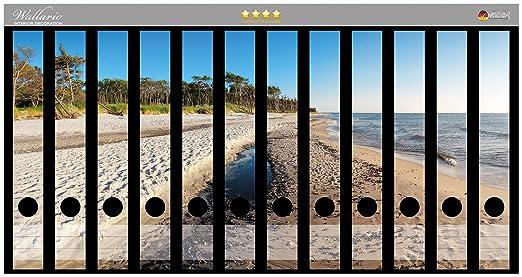 Lomo de archivadores Pegatinas einsamer playa en el mar ...