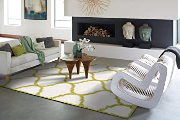 ideal california shag collection moroccan trellis shag rug 2x3 small shag rugs white and green solid