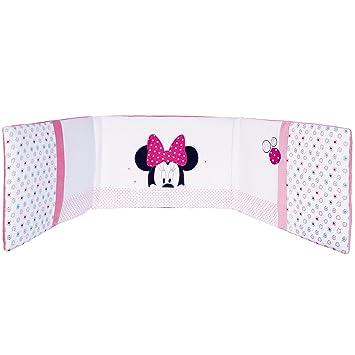 Babycalin Minnie Mouse Adaptable Patchwork Cot Bumper 40 X 180 Cm