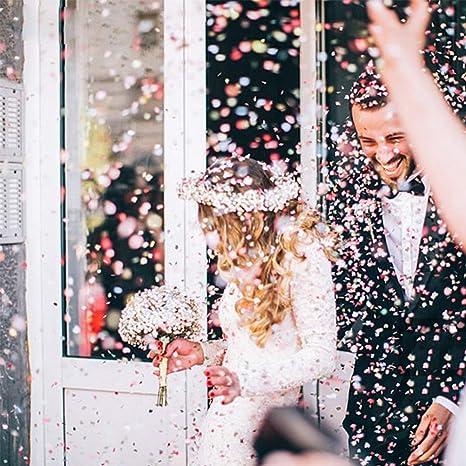 5 paquetes de confeti de oro rosa con lentejuelas redondas para decoración de aulas, para bodas, vacaciones, aniversarios, cumpleaños, 2,54 cm: Amazon.es: ...