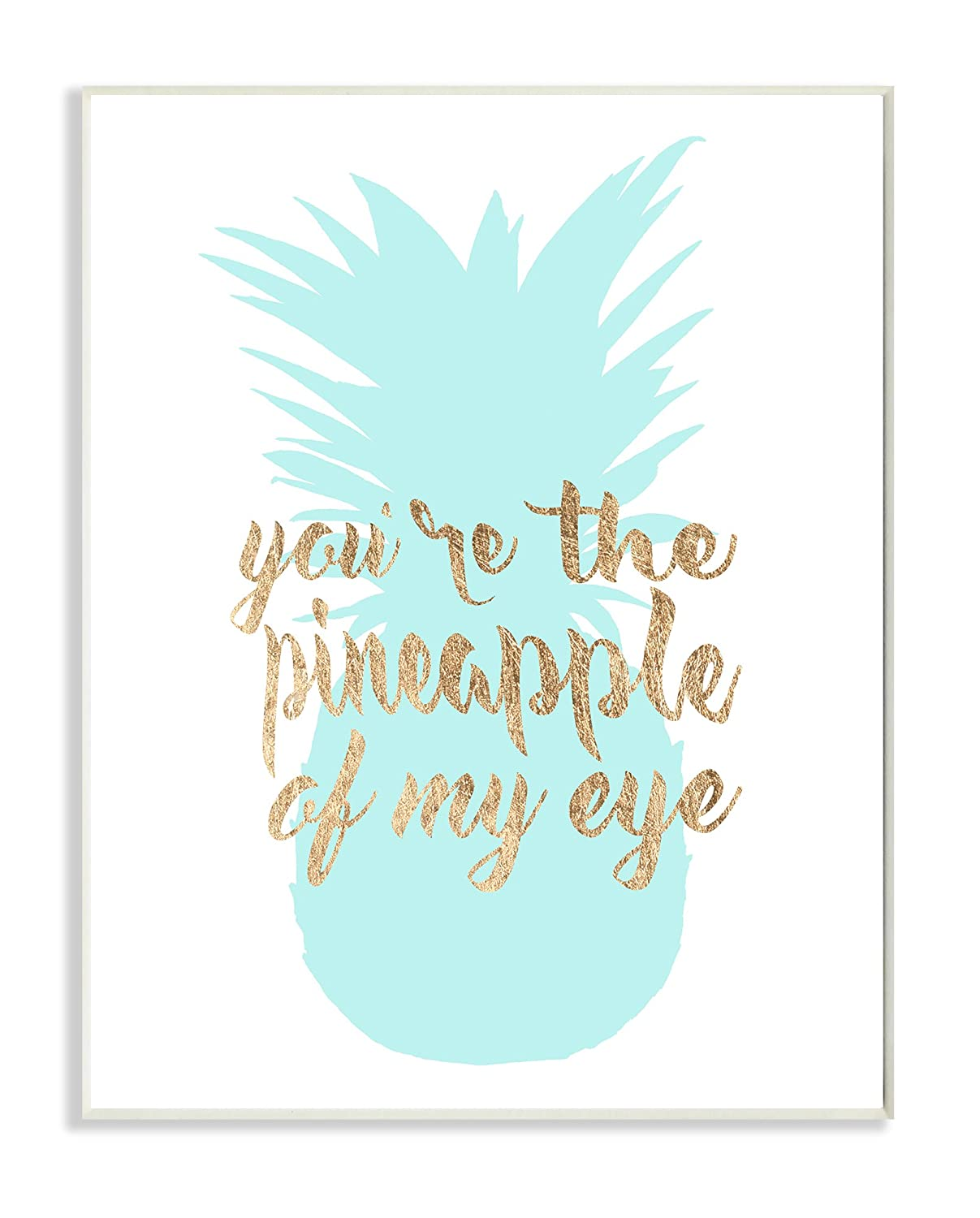 Stupell Home D/écor Youre The Pineapple of my Eye Stretched Canvas Wall Art Proudly Made in USA 16 x 1.5 x 20