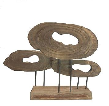 Formano Holz Skulptur Auf Sockel Deko Objekte Aus Baumscheiben BZW. Ästen Moderne  Deko Figuren Für