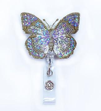 set of 4 Butterfly Badge reels