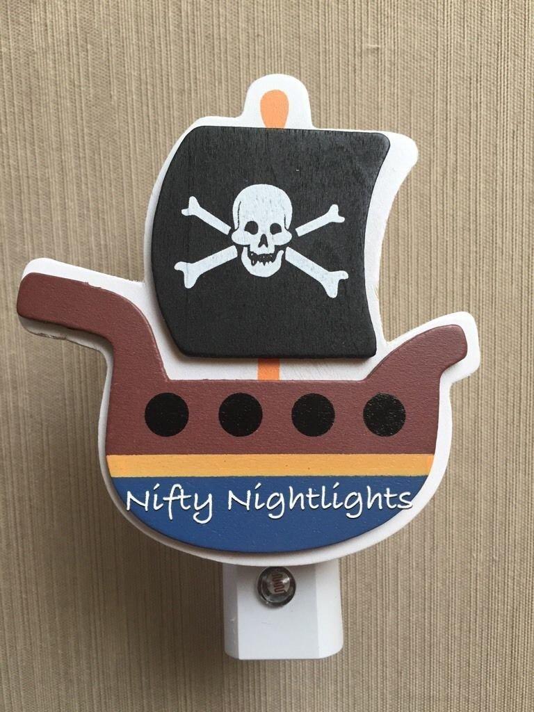 Nursery Night Lights - Night Light, Baby Shower, Pirate Ship, Auto On/Off Sensor