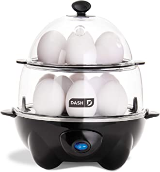 Amazon.com: Hervidor de huevos Dash Deluxe, Negro: Kitchen ...