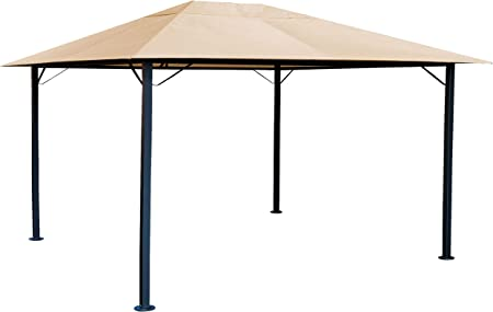 Quick-Star Metal jardín Carpa Niza 3 x 4 m Antiguo pérgolas Arena: Amazon.es: Jardín