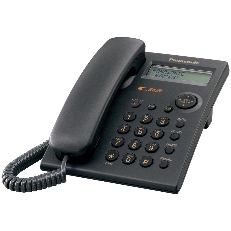 Panasonic KX-TSC11B Corded Phone with Caller ID, Black