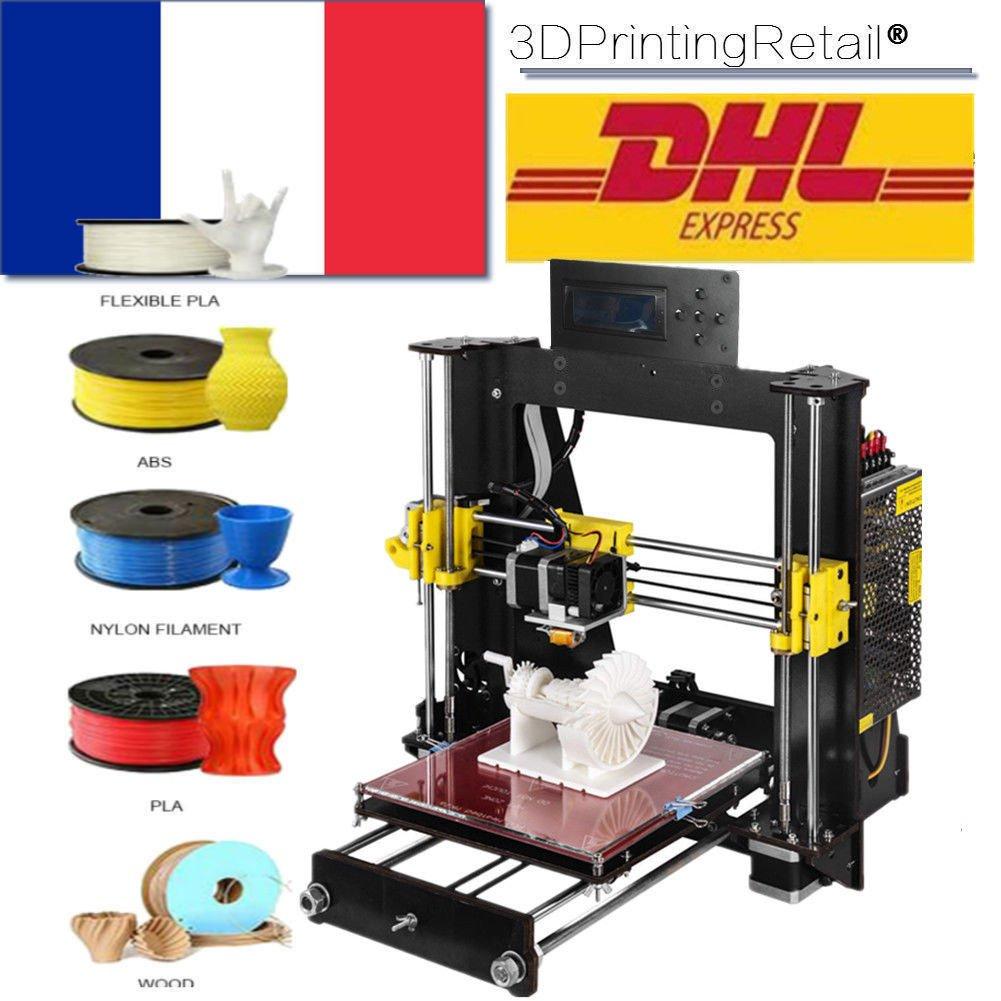 Abcs Printing Kit stampante 3D fai da te,Versione aggiornata Prusa I3,stampanti 3D desktop,supporto per scheda SD, Formato di stampa 220x220x240mm