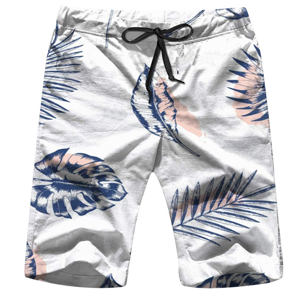 Animal Print Zebra Ornament Animals Mens Drawstring Elastic Waist Surfing Beach Board Shorts with Pockets
