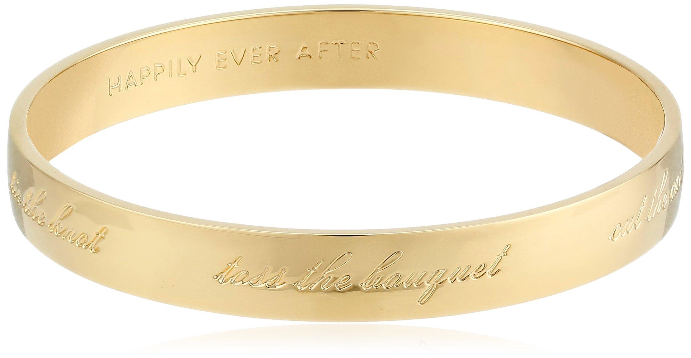 Kate Spade New York ''Bride Gold-Tone Engraved Idiom Bangle Bracelet