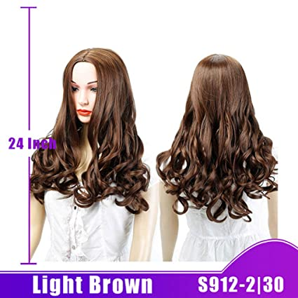 Peluca de pelo largo sintético Shangke para mujeres negras, larga, rizada, negra,