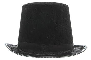 La vogue Sombrero Chistera Fieltro Unisex Disfraz de Mango Color Negro 2eaaabde943