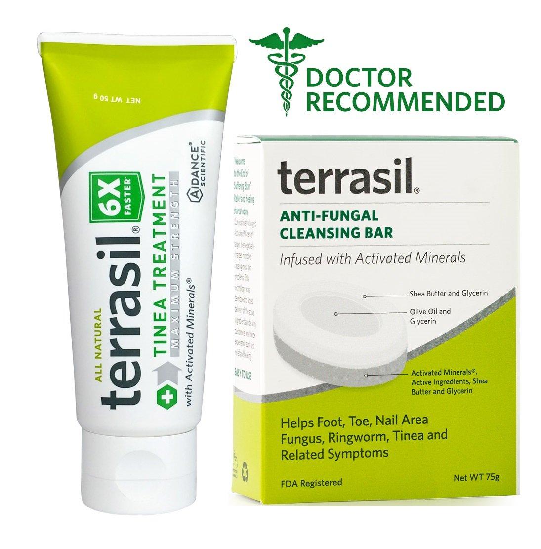 Terrasil Tinea Versicolor Treatment Max (50g tube & soap bar)