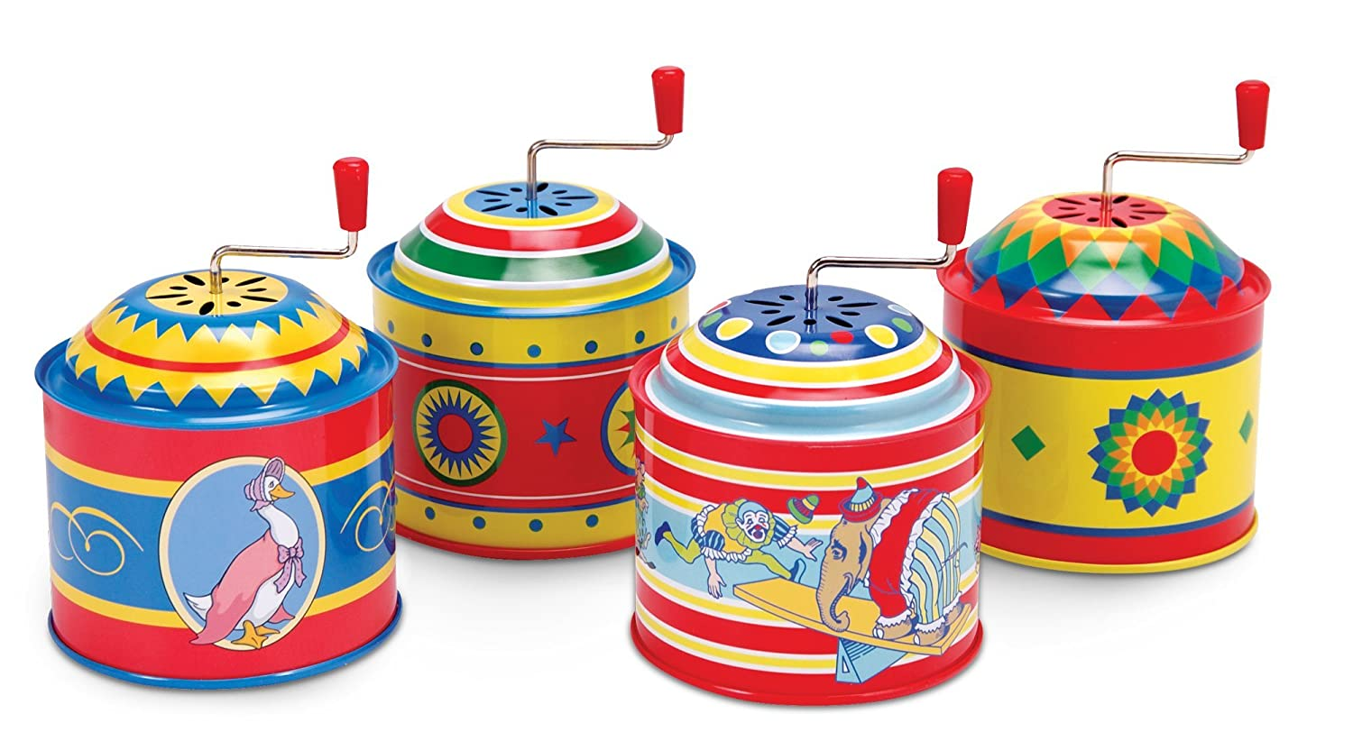 Schylling SC-TMB Tin Music Boxes That Play a Traditional Song When the Handle is Turned TOBAR 19649218738