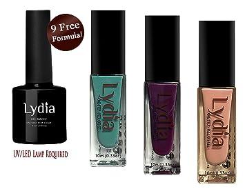 9 free formula  Amazon.com: Lydia One Step, Peel-Off Gel Nail Polish. Nine ...