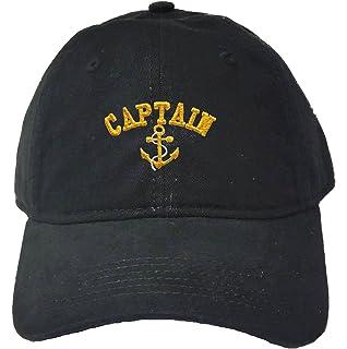 b3e85dc907c e4Hats.com Captain Embroidered Low Profile Washed Cap - Black OSFM ...