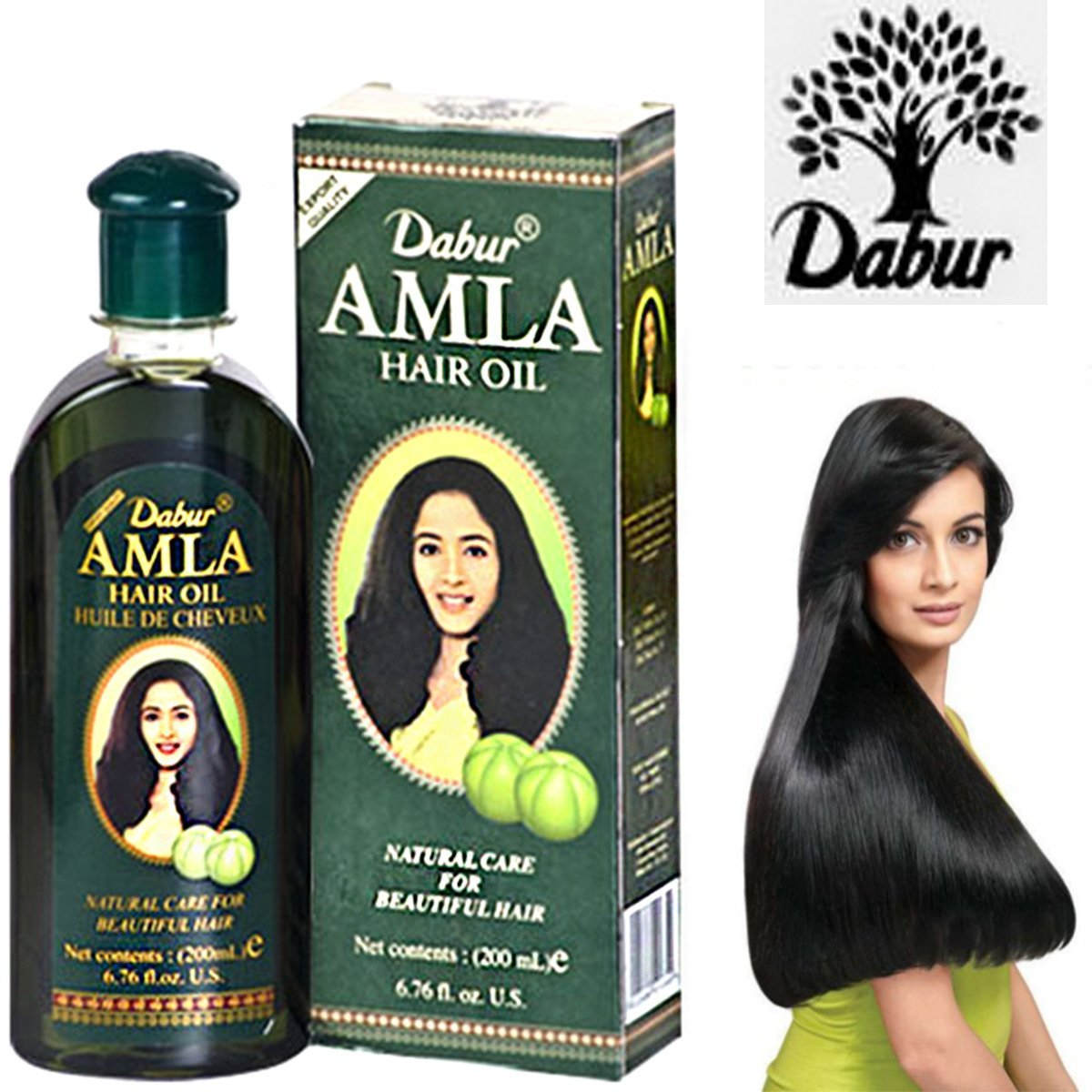 by United Arab Emirates DABUR AMLA HAIR OIL NATURAL CARE FOR HEALTHY, LONG & BEAUTIFUL HAIR 200ML