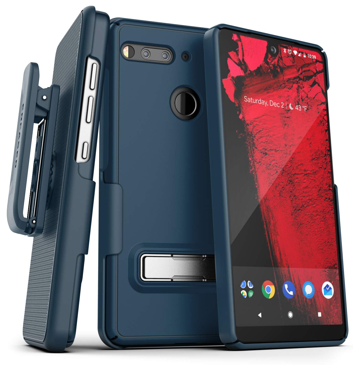 ENCASED Essential Phone Belt Clip Case with Kickstand (2019 ...