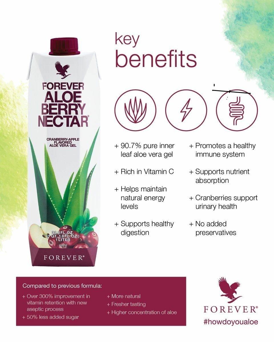 Forever Aloe Berry Nectar (Pack of 2)