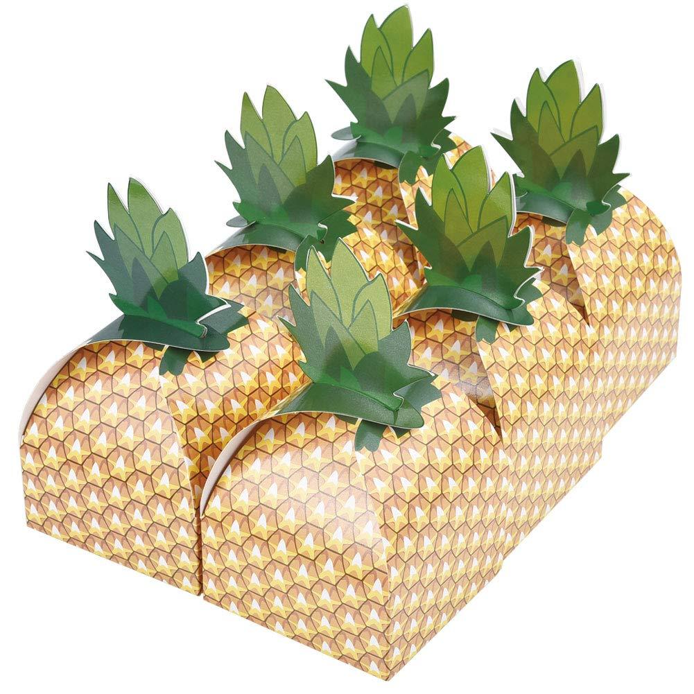 Cizen 24 Piezas 3D Caja de Regalo Cart/ón de Pi/ña Snacks y Cajas de Regalo Adecuado para La Boda,Cumplea/ños,Fiesta,Caja