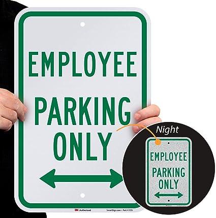 "Employee Parking Only Sign 12/"" x 12/"" Aluminum Exterior"