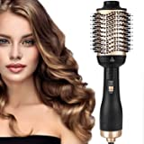 2020 Upgraded Hair Dryer Brush, One-Step Hair Dryer & Volumizer Blow Brush,5 In 1 Multifunction Hot Air Styler Brush, Professional Negative Ion Ceramic Blow Dryer Brush for All Styling (AU Plug)